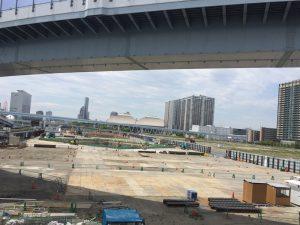 (仮称)東京ベイ トリプルタワープロジェクト 現場写真 イーストタワー側(2017/05)