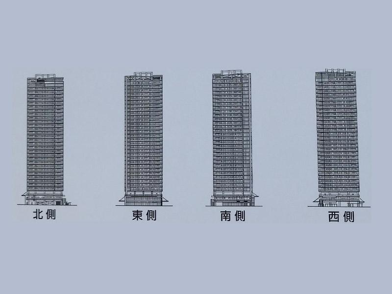 (仮称)有明北2-1-A街区計画(BrilliaIV)|外観図