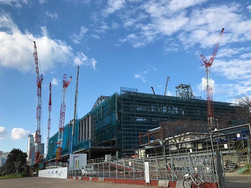 東京ビッグサイト 南展示棟、建設写真
