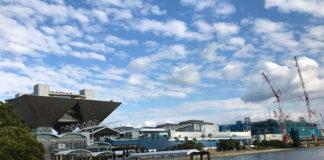 東京ビッグサイト 南展示棟、仮設代替施設「青海展示棟」建設進む