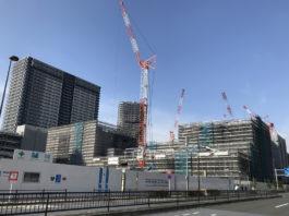 有明商業施設「有明ガーデンシティ」2020年春オープンに向け着々と建設中。