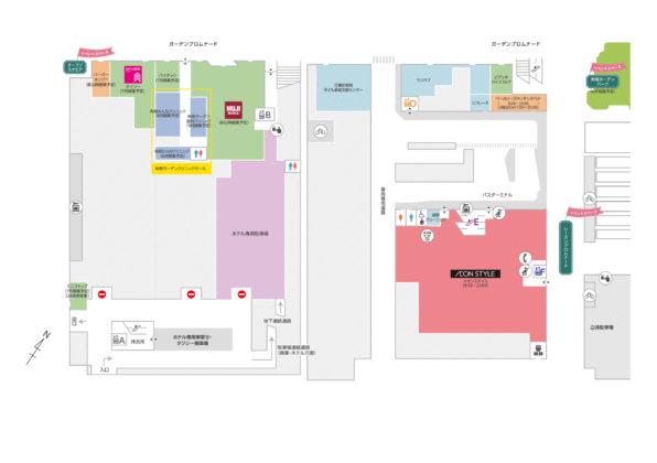 有明商業施設「有明ガーデン」フロアマップ1F