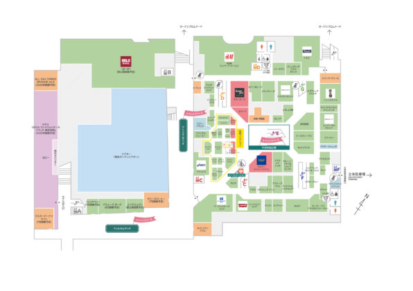 有明商業施設「有明ガーデン」フロアマップ2F