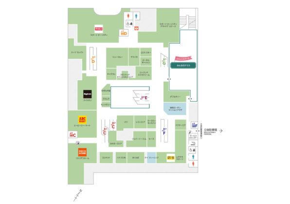 有明商業施設「有明ガーデン」フロアマップ3F