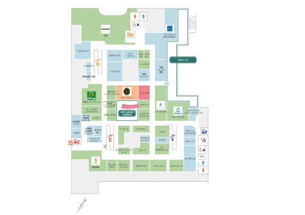 有明商業施設「有明ガーデン」フロアマップ4F