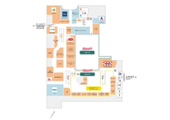 有明商業施設「有明ガーデン」フロアマップ5F